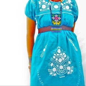Mexico Dress Turquoise Boho Chic Tunic